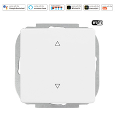 Wintop AI WiFi Smart  Shutter switch Works with Amazon Alexa, Echo, Google Home and IFTTT, Smart Switch 16A Shuko Outlet Controlling Lights and Appliance by Phone with Energy Monitoring, App Remote Control and Timer Function, No Hub Required